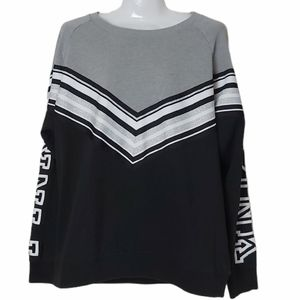 PINK Victoria's Secret Sweatshirt Black Gray M